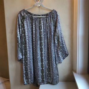 Calypso St. Barth Silk Paisley Bell-Sleeve Tunic